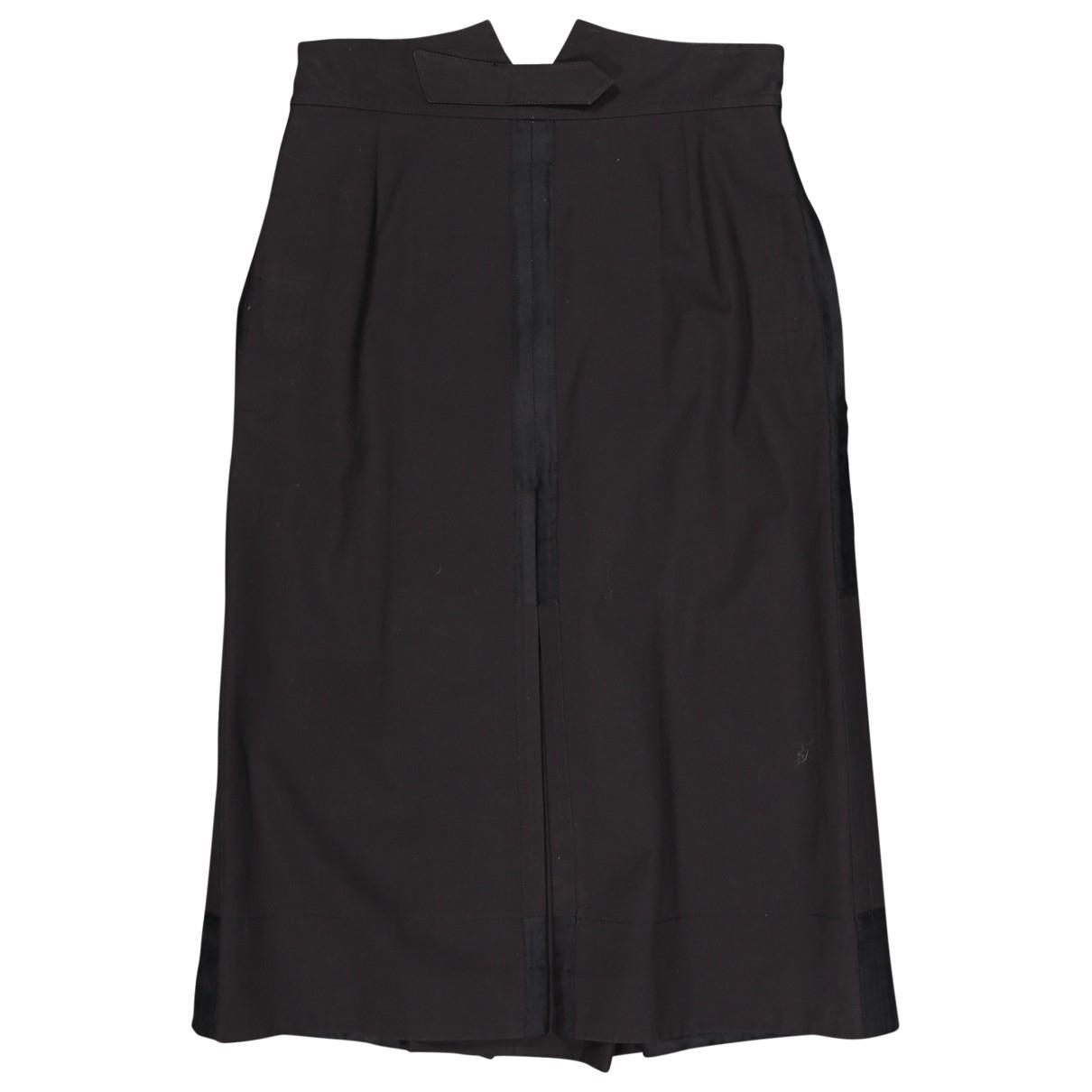Yves Saint Laurent \N Black Cotton skirt for Women 38 FR