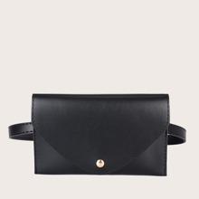 Minimalist Flap Belt Bag
