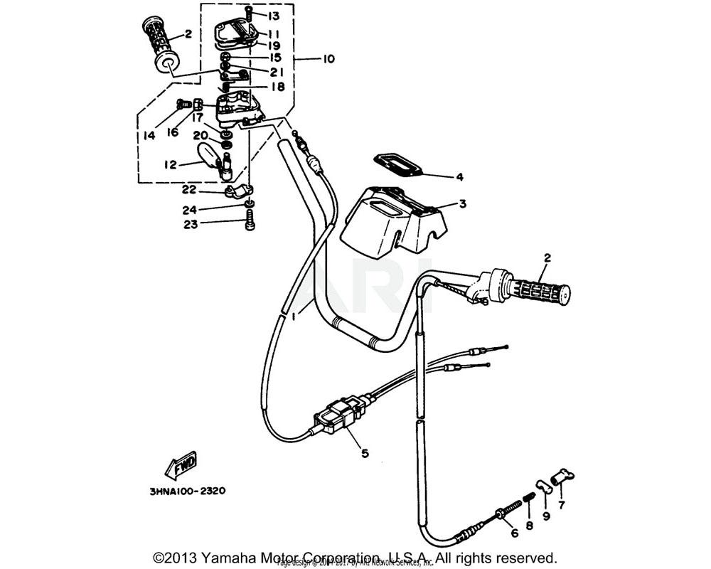 Yamaha OEM 3HN-26341-00-00 CABLE, BRAKE