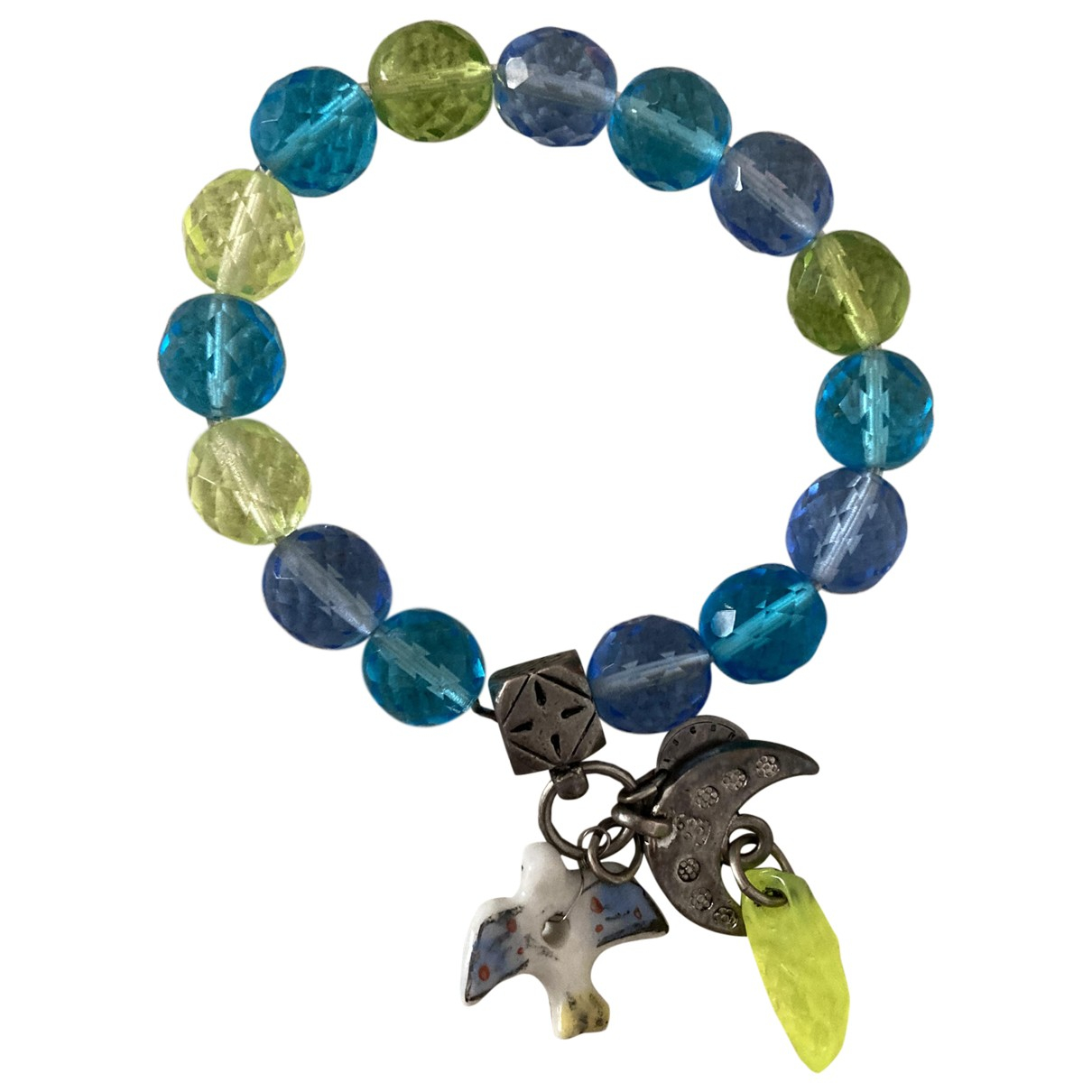 Reminiscence \N Armband in  Blau Perlen