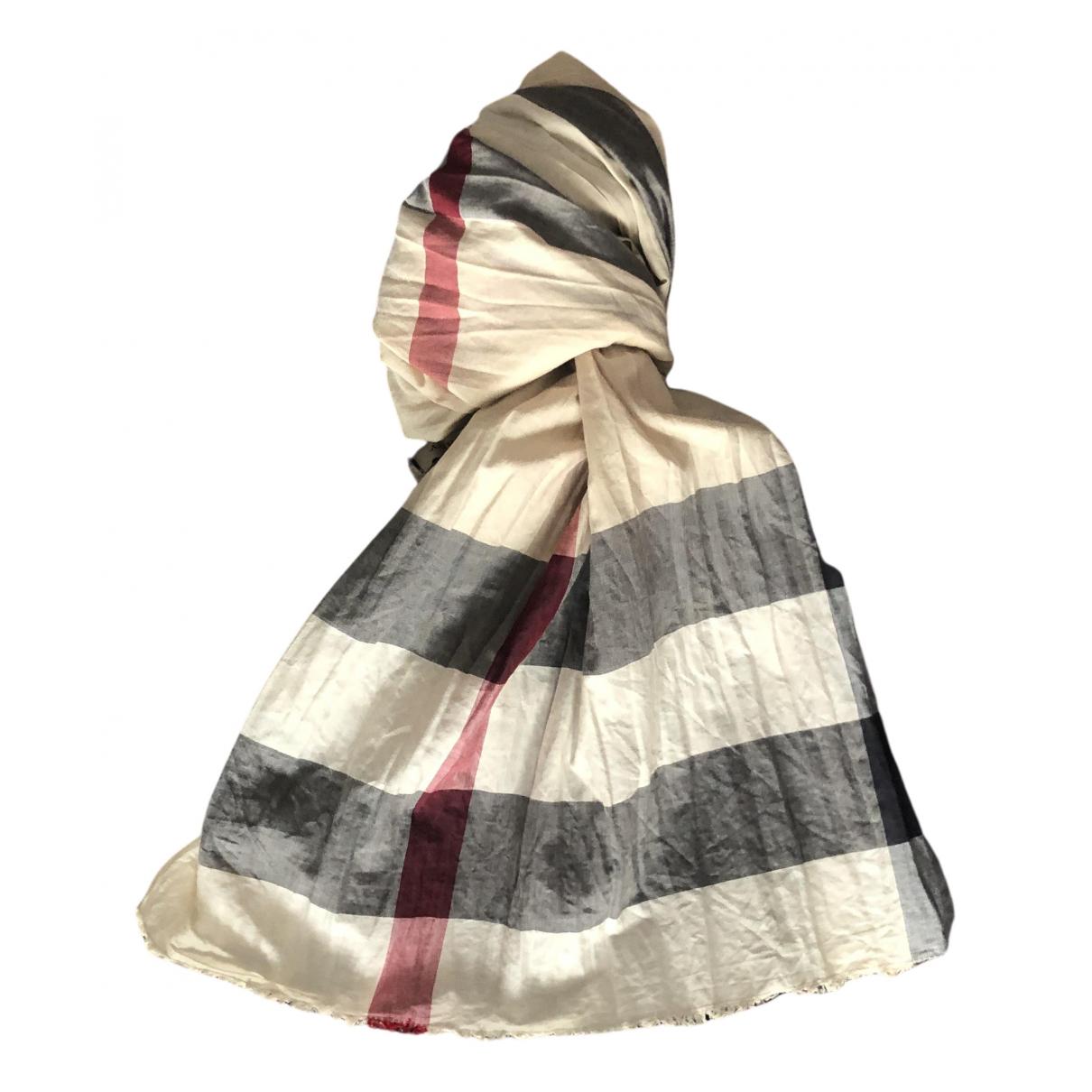 Burberry - Foulard   pour femme en coton - beige