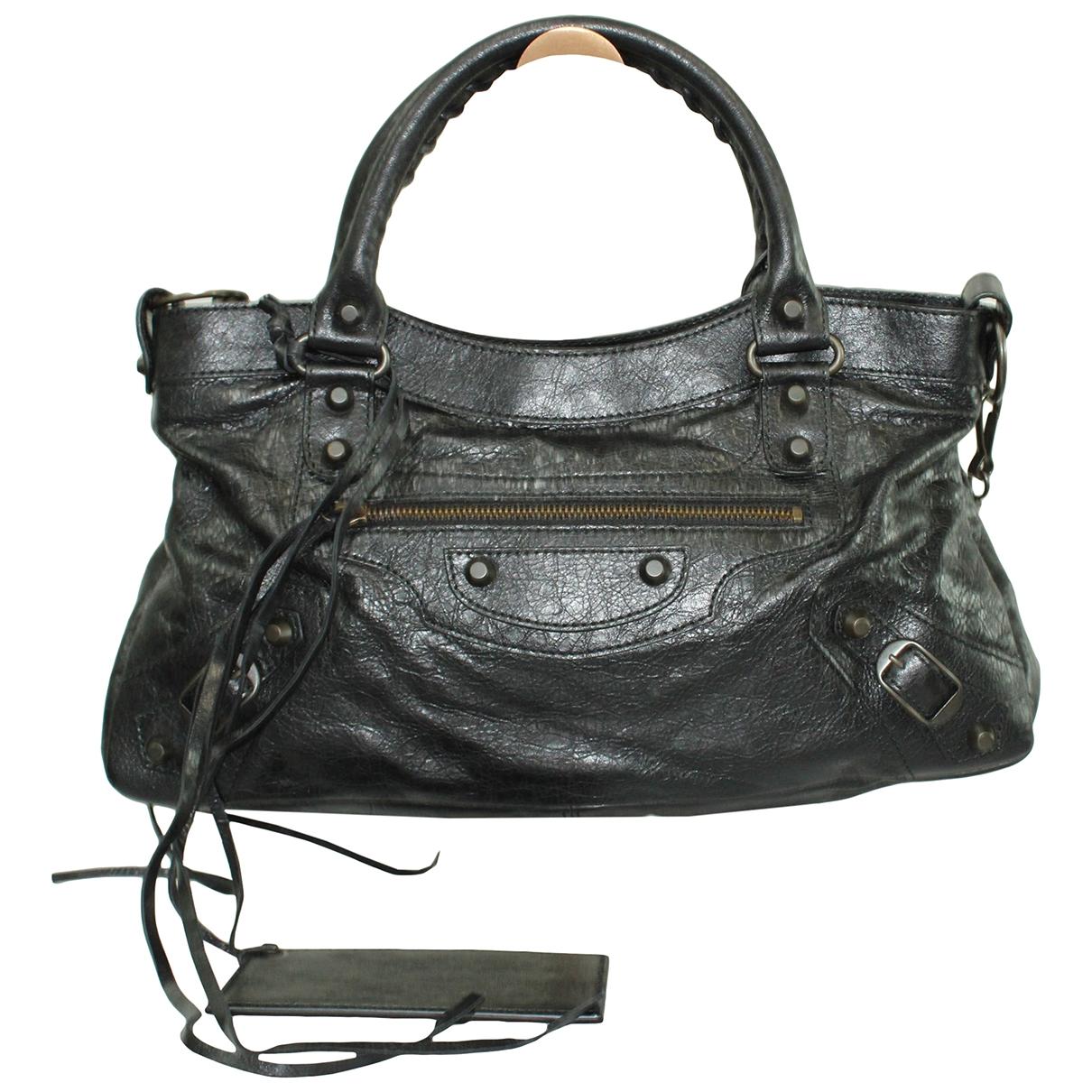 Balenciaga First Handtasche in  Schwarz Leder