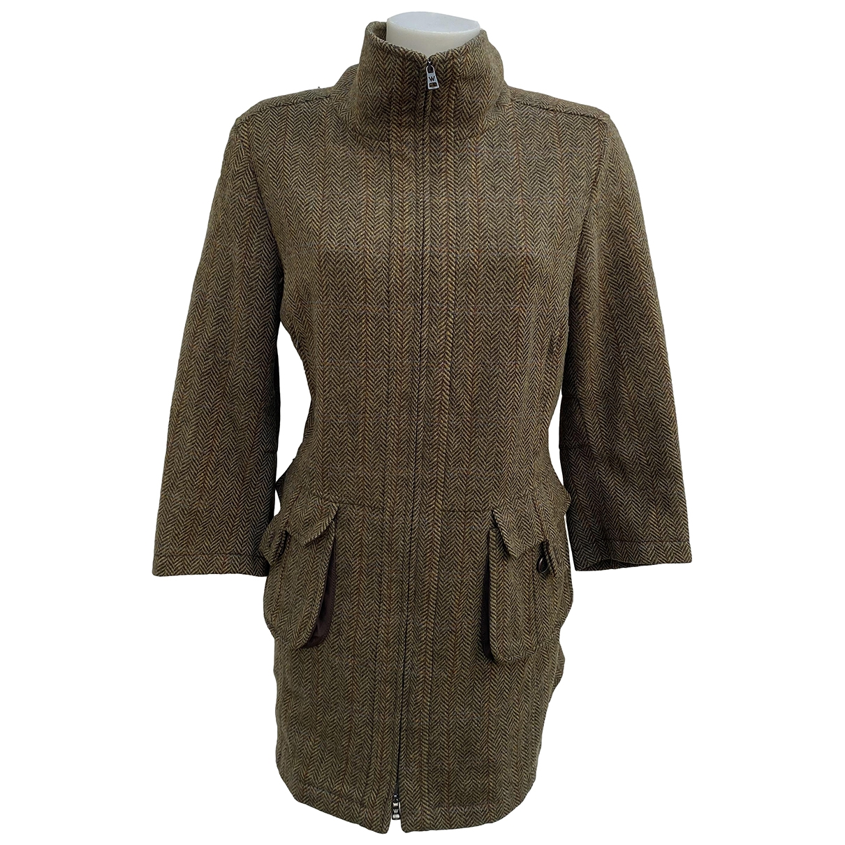 Max Mara Weekend \N Green Wool coat for Women 46 IT