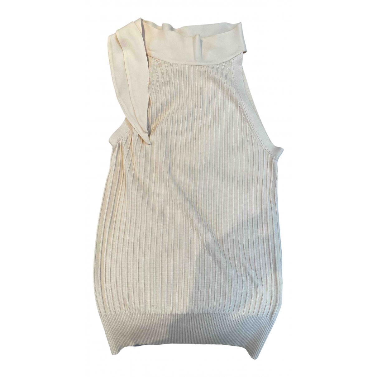 Paule Ka - Top   pour femme en soie - beige