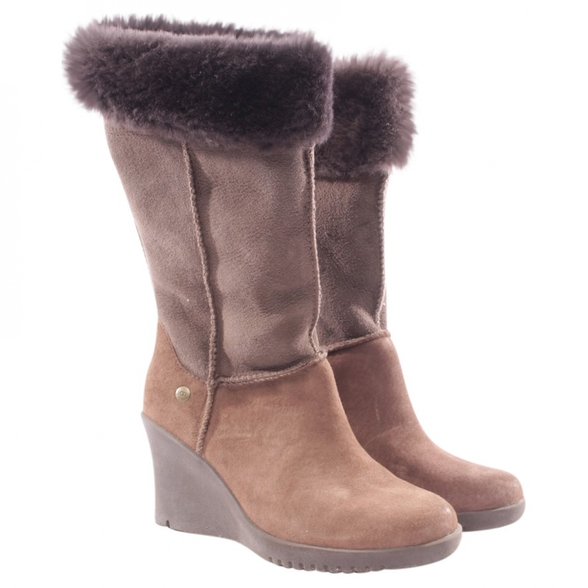Ugg \N Brown Leather Boots for Women 36 EU