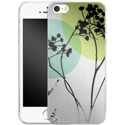 Apple iPhone 5s Silikon Handyhuelle - Abstract Flowers 2 von Mareike Bohmer