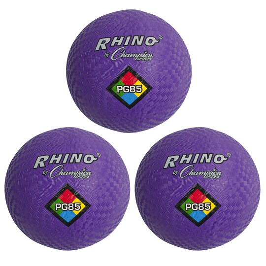 Champion Sports Playground Ball, ct Of 3 in Purple | 8.5 in | Michaels®