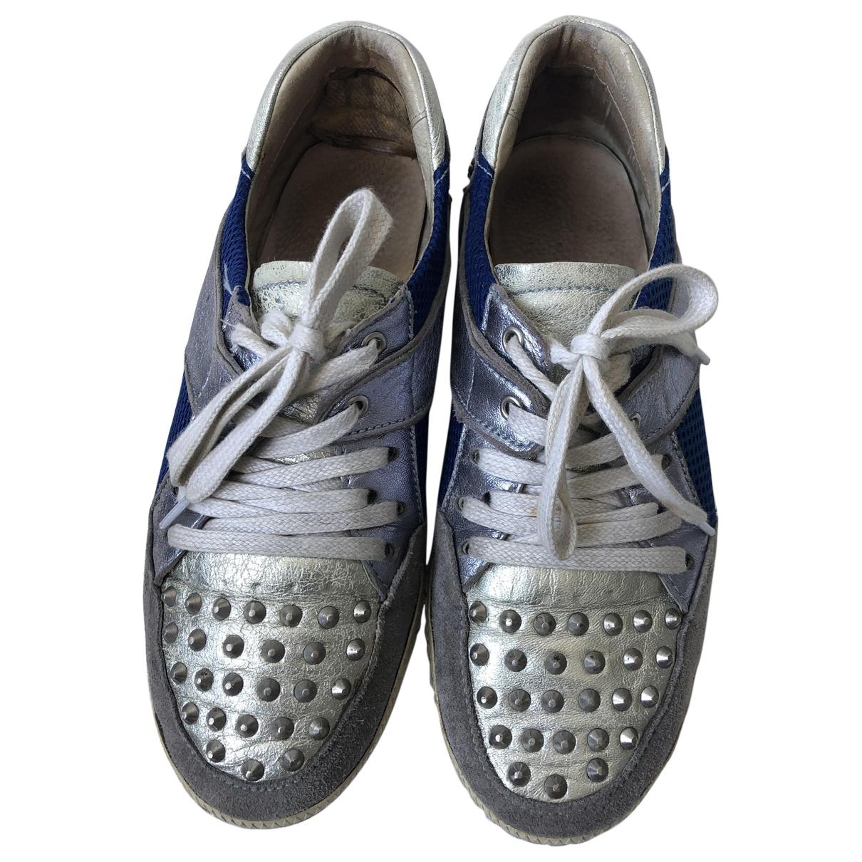 Sandro - Baskets   pour femme en cuir - gris