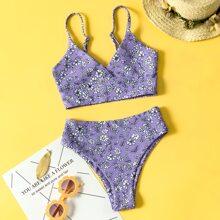 Girls Floral Bikini Swimsuit