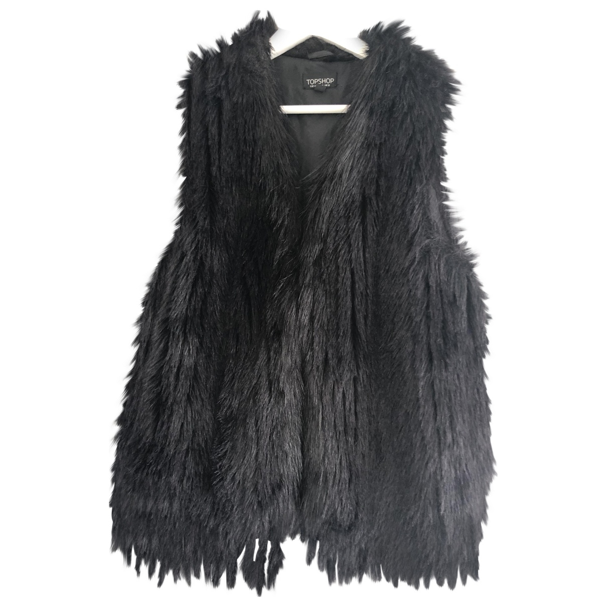 tophop \N Black Faux fur coat for Women 14 UK