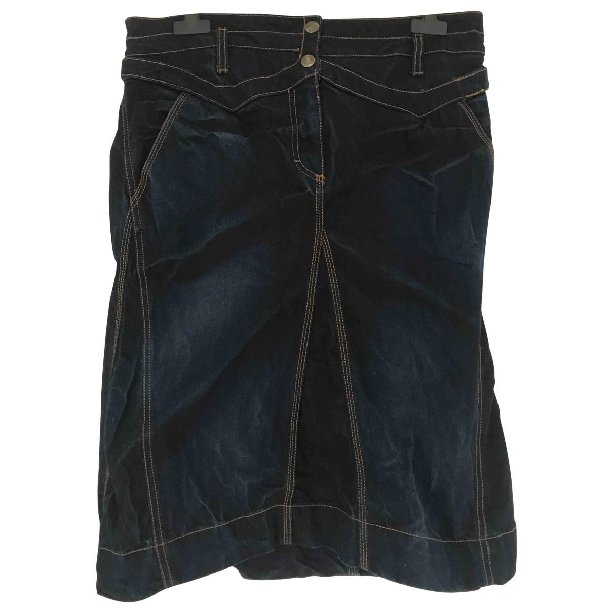 Just Cavalli \N Blue Cotton skirt for Women 44 IT