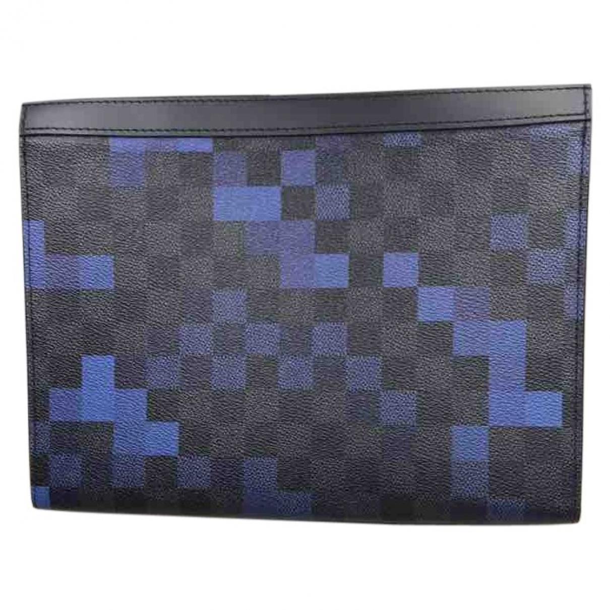 Louis Vuitton \N Blue Cloth Small bag, wallet & cases for Men \N