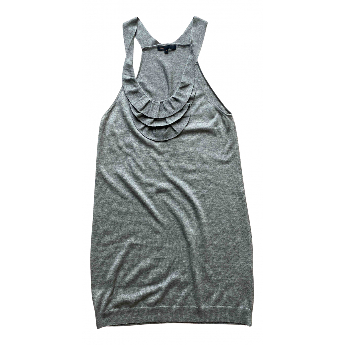 Maje N Grey Silk dress for Women S International