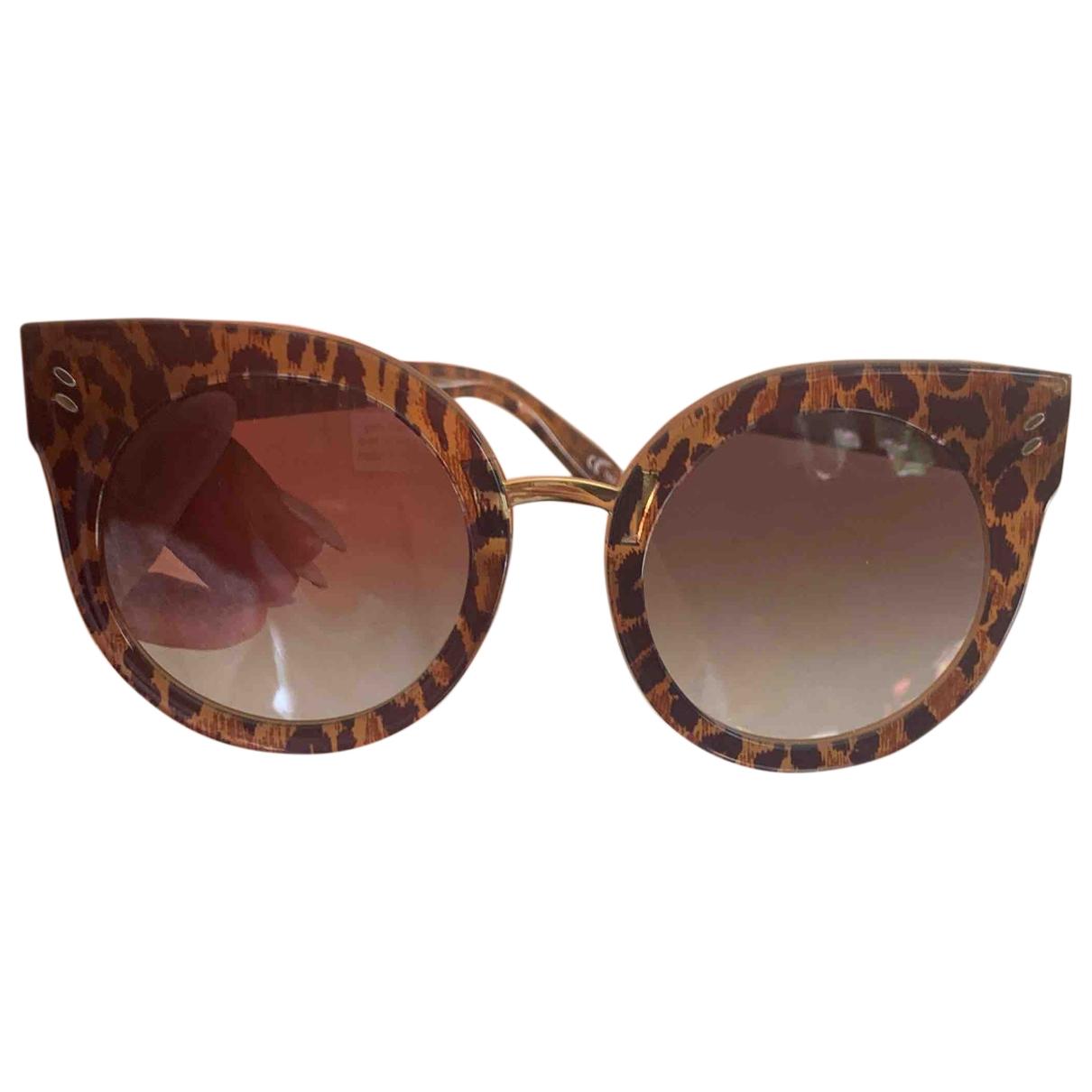 Stella Mccartney \N Sonnenbrillen in  Braun Kunststoff