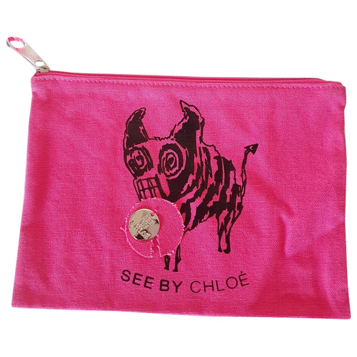 See By Chloe \N Clutch in  Rosa Baumwolle