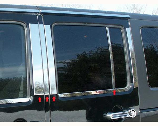 Quality Automotive Accessories 8-Piece Pillar Post Trim Kit Jeep Wrangler 2007