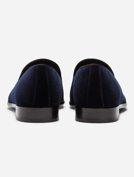Milanoo Zapatos holgazanes para hombres Zapatos de terciopelo con punta redonda y zapatos planos