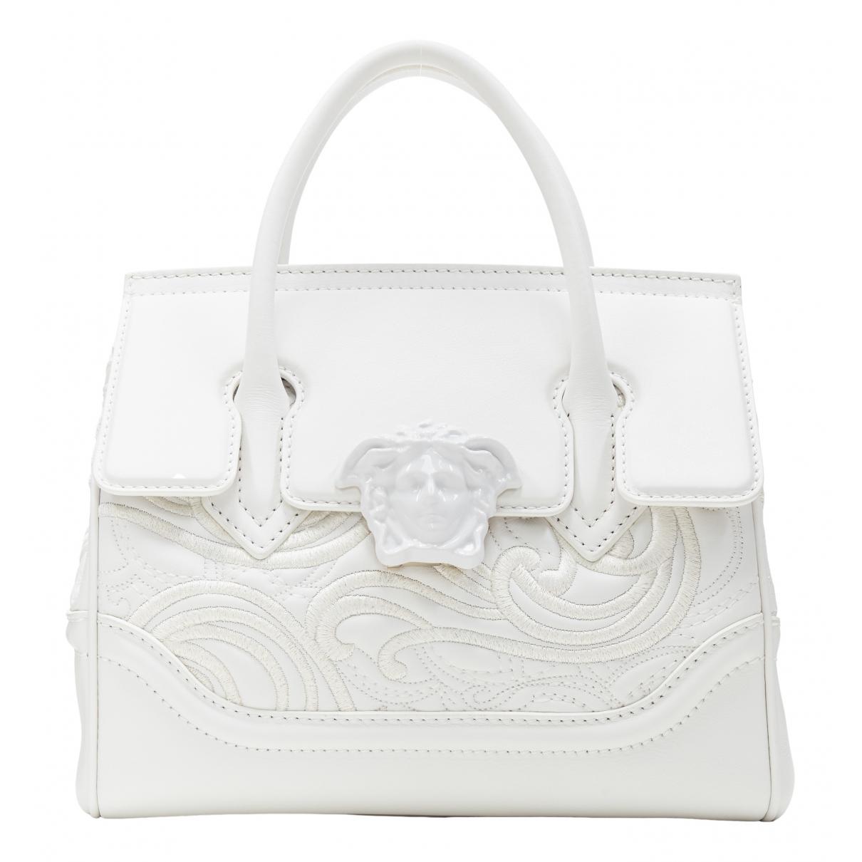 Versace - Sac a main Palazzo Empire pour femme en cuir - blanc
