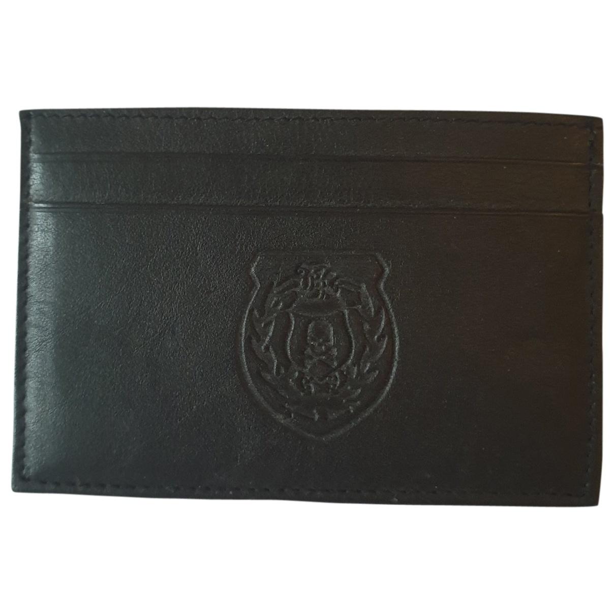 The Kooples \N Black Leather Small bag, wallet & cases for Men \N
