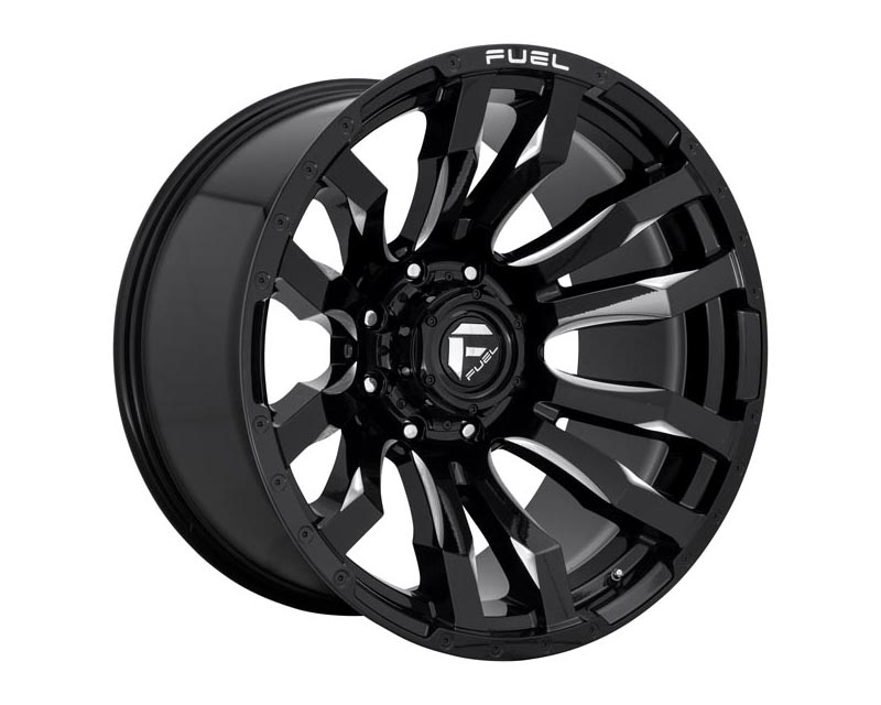 Fuel D673 Blitz Wheel 20x8.25 8x200 -227 Gloss Black Milled