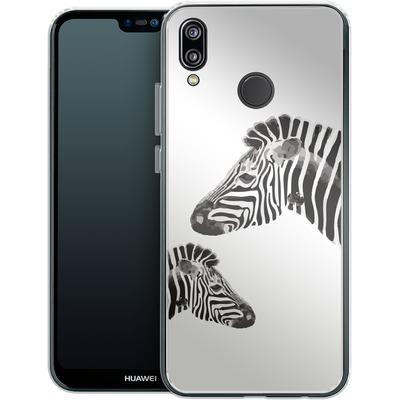Huawei P20 Lite Silikon Handyhuelle - Zebra Pride von Mukta Lata Barua