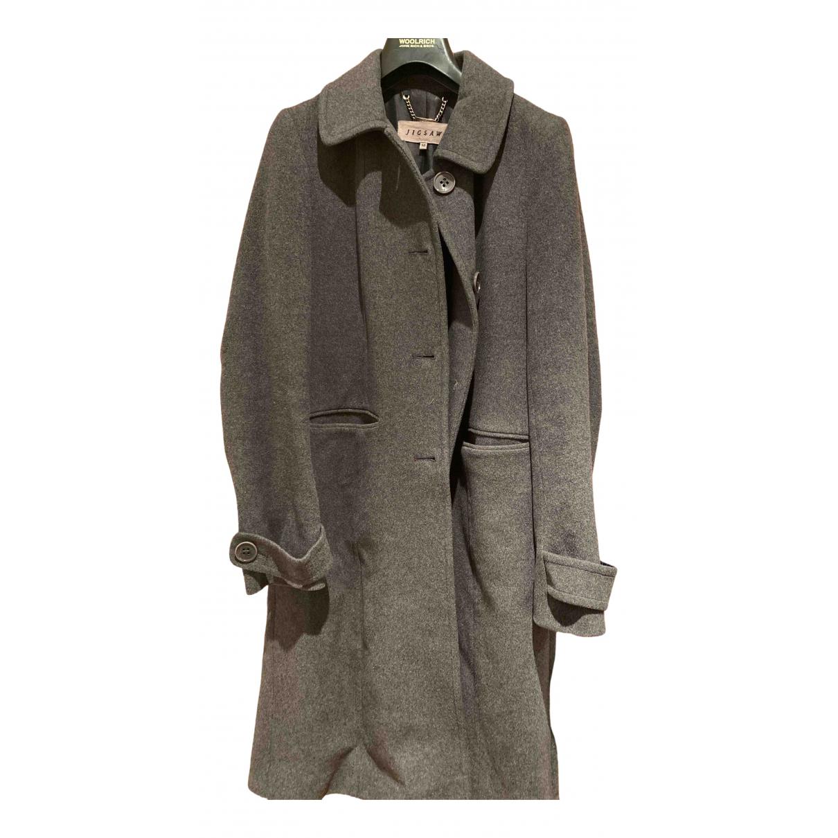 Jigsaw N Grey Wool coat for Women 12 UK