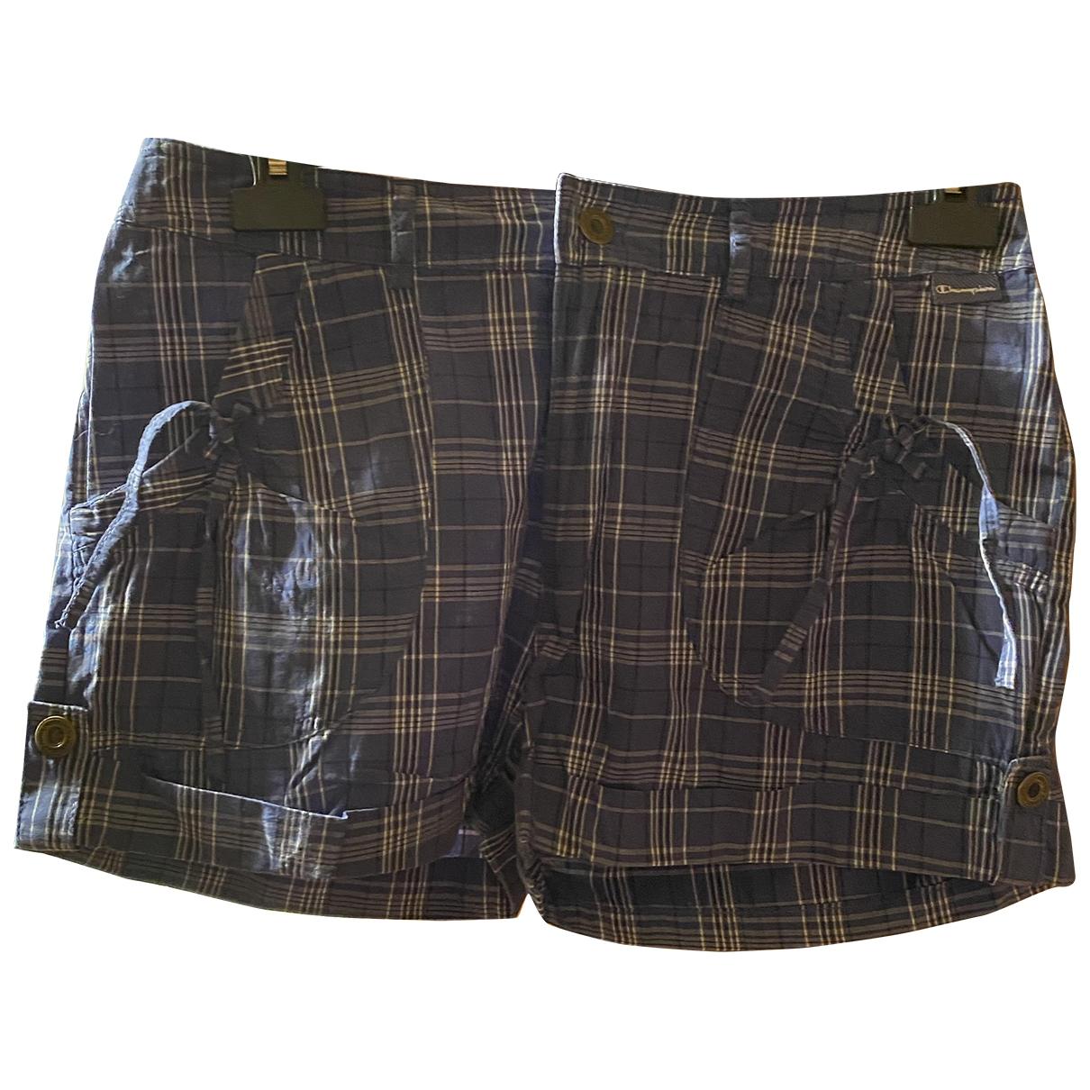 Champion \N Blue Cotton Shorts for Women M International