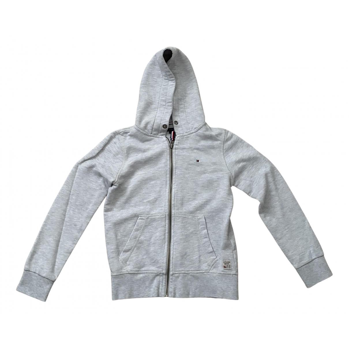 Tommy Hilfiger - Pull   pour enfant en coton - gris