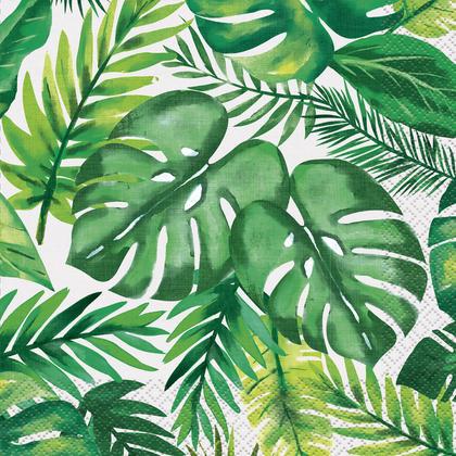 Serviettes déjeuner tropicales luau Palm, 16ct