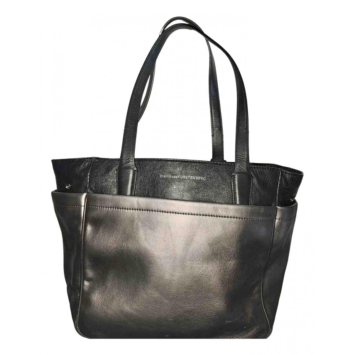 Diane Von Furstenberg N Silver Leather handbag for Women N