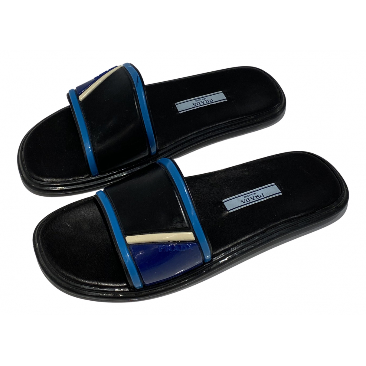 Prada N Black Rubber Sandals for Women 36 EU