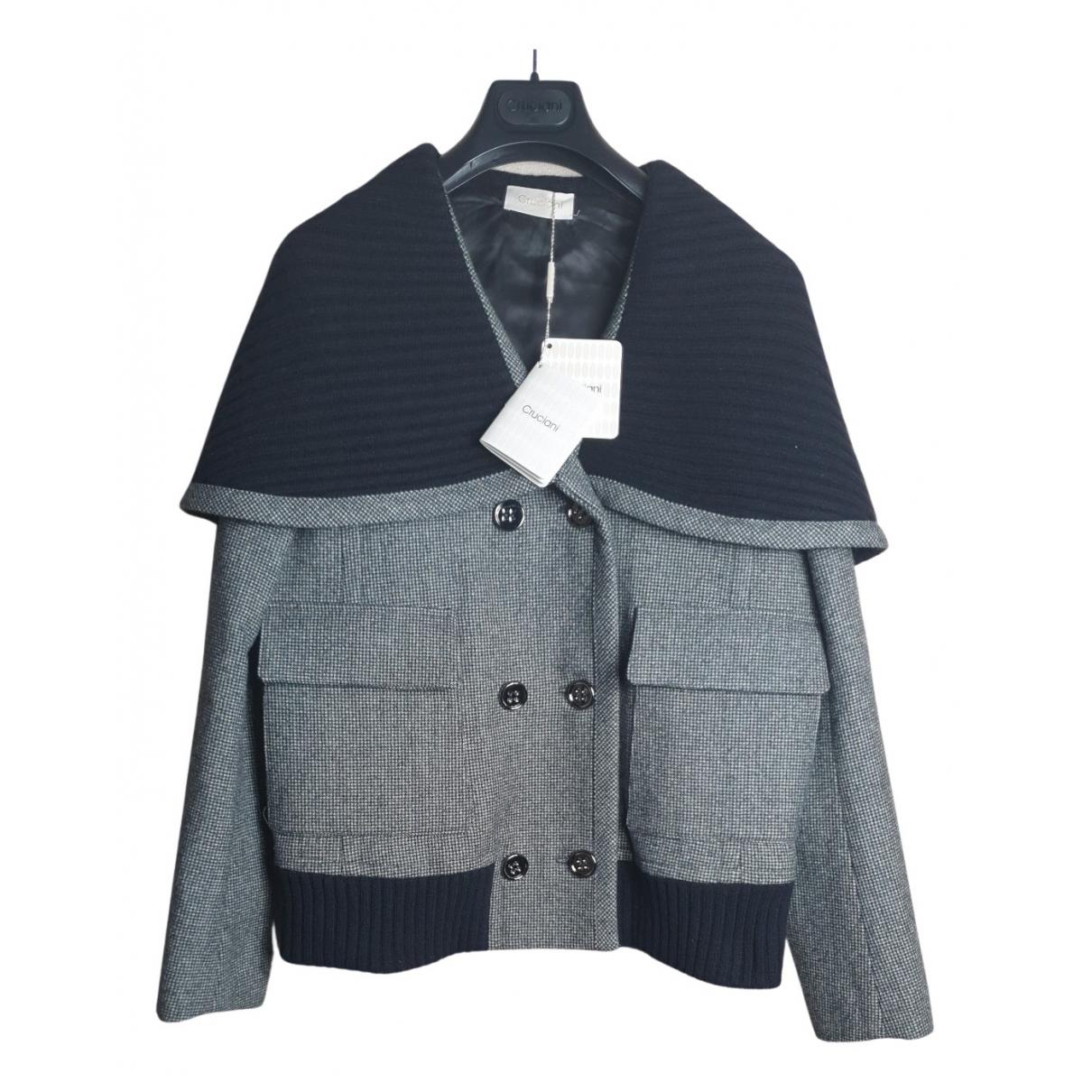 Cruciani - Veste   pour femme en laine - noir