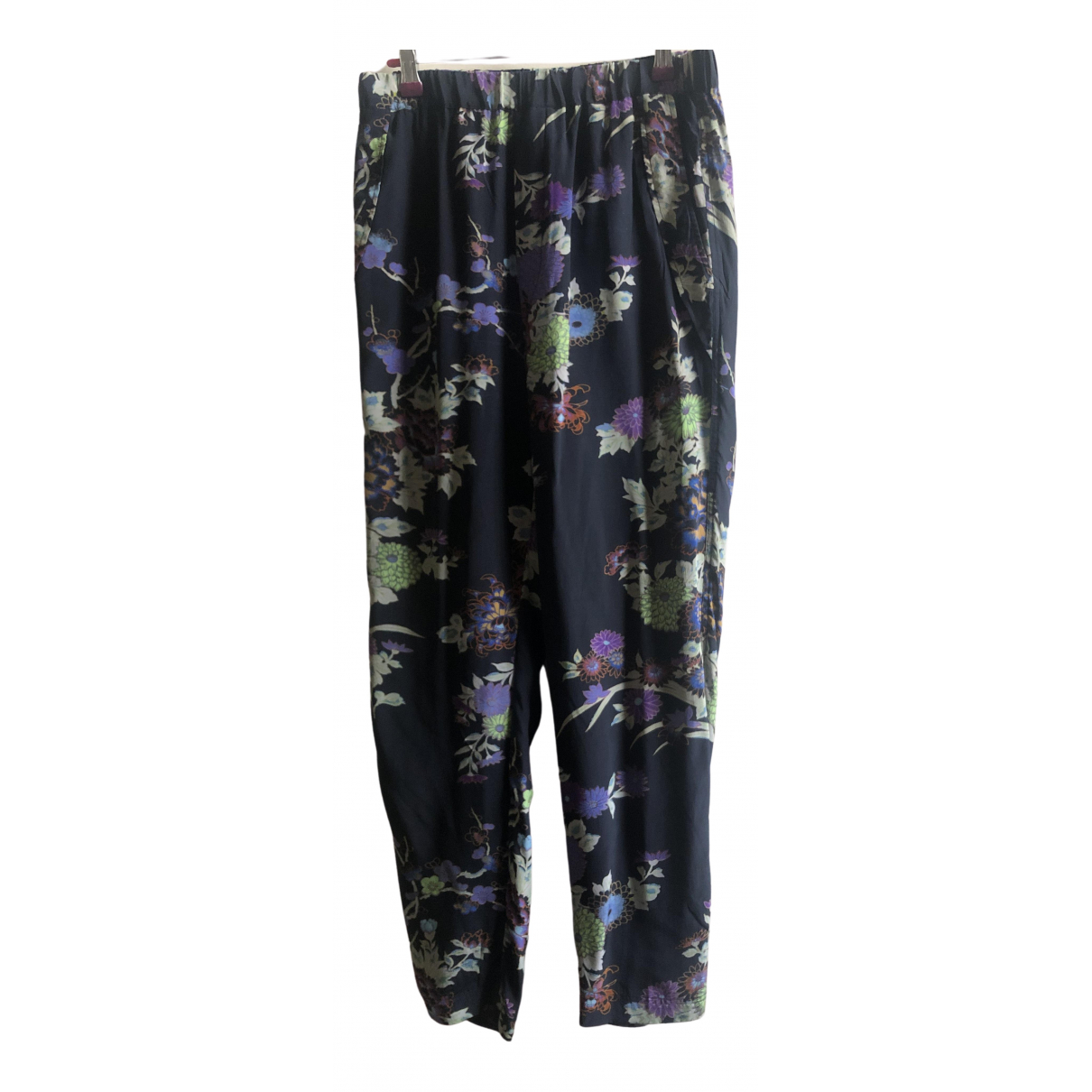 Isabel Marant \N Multicolour Silk Trousers for Women 38 FR
