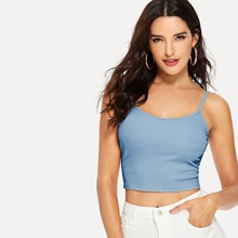 Ribbed Cropped Cami Top