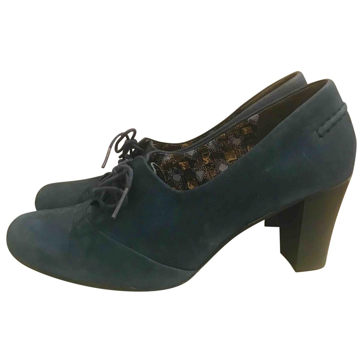 Camper \N Blue Leather Lace ups for Women 38 EU