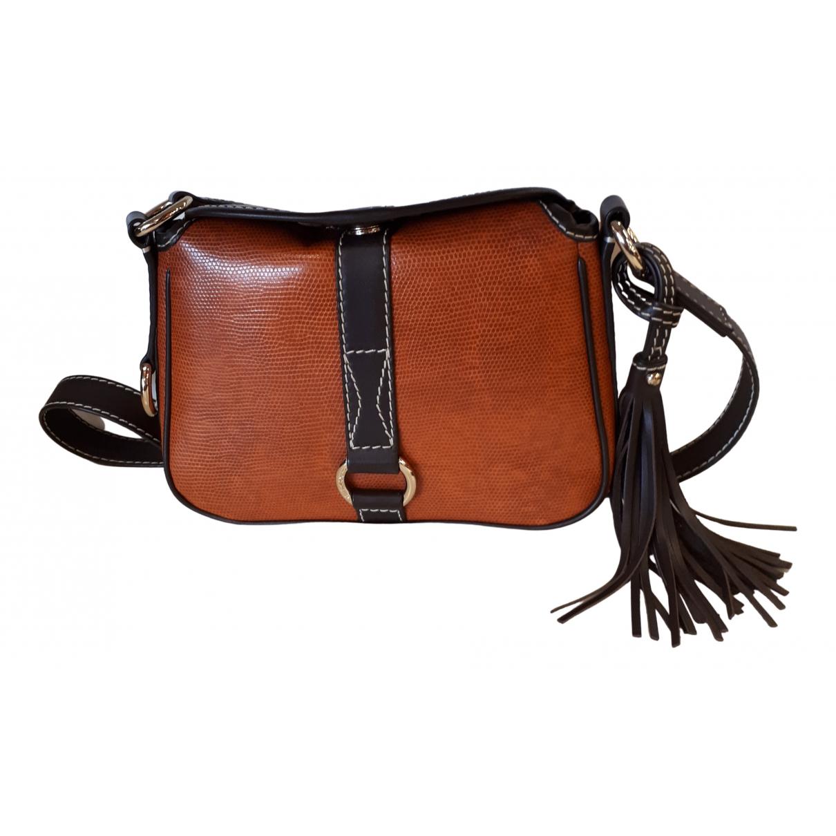 Lancel \N Handtasche in  Braun Leder