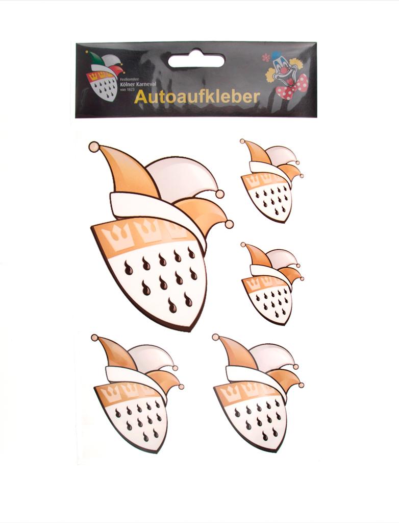 Autoaufkleber FK Logo gold 7,5x10cm