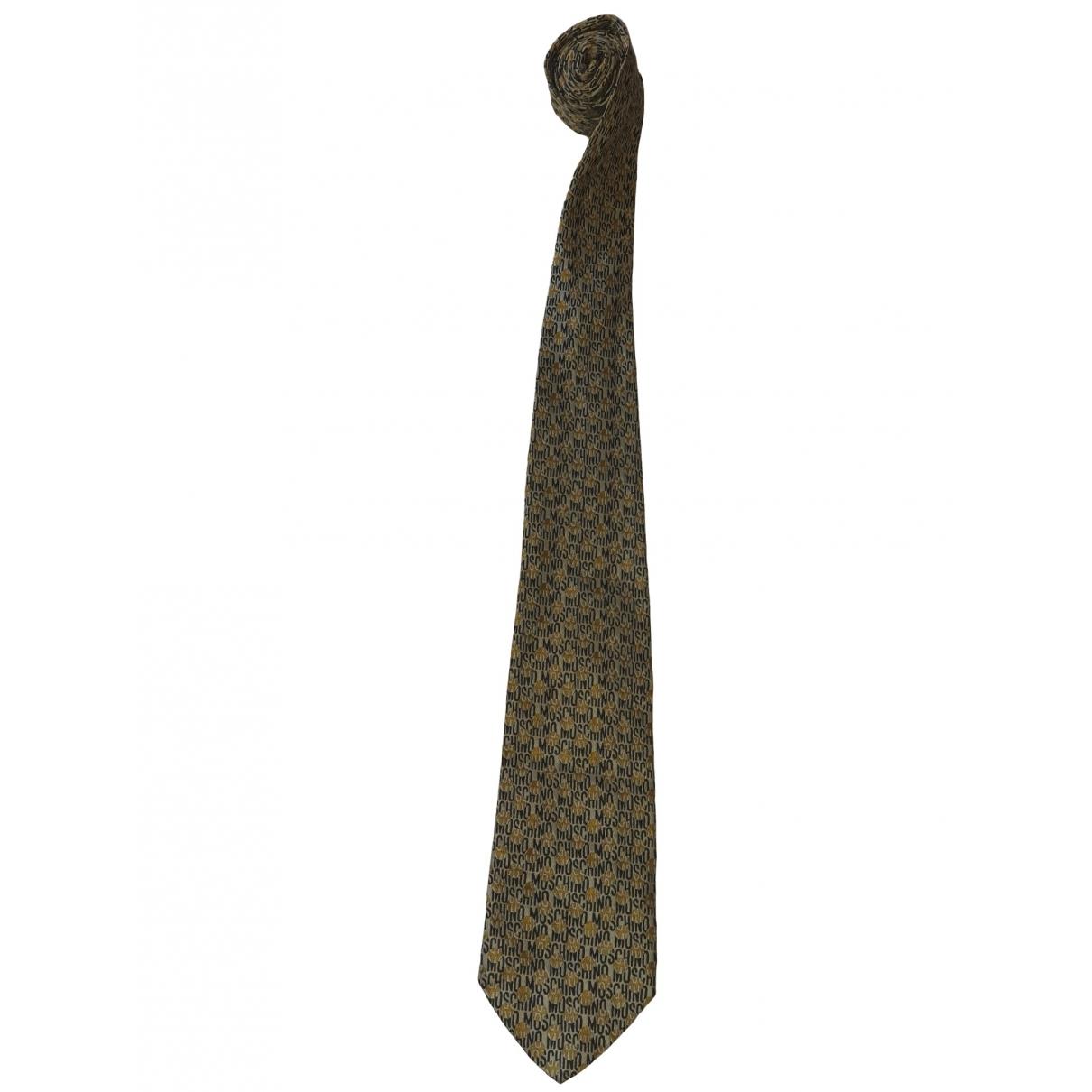 Moschino - Cravates   pour homme en soie - beige