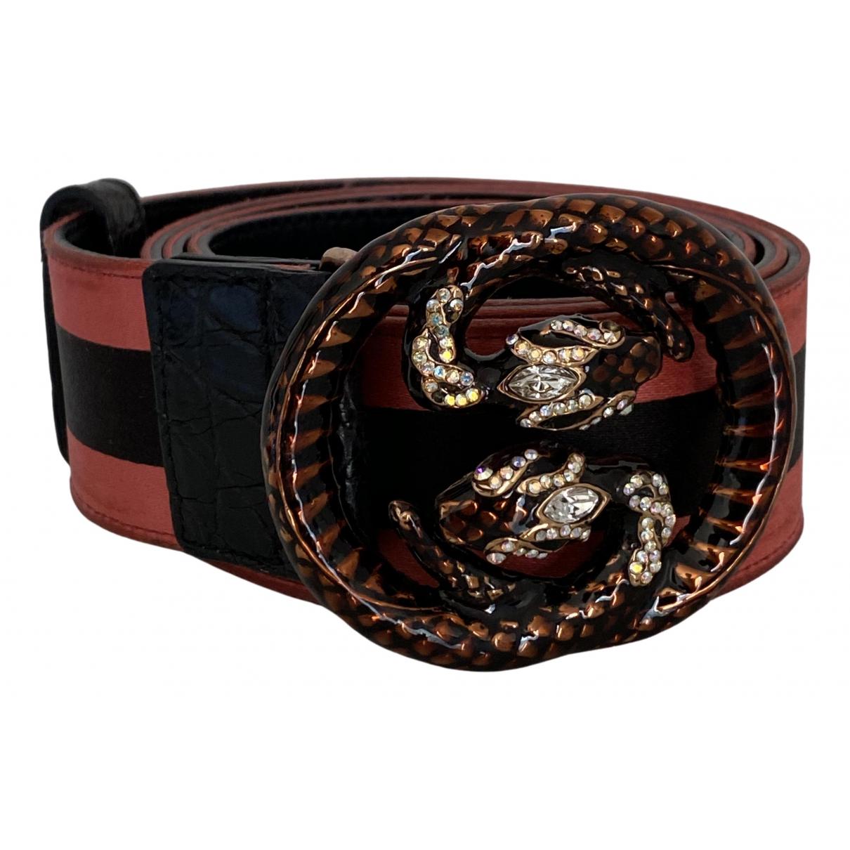 Gucci N Multicolour Silk belt for Women 90 cm