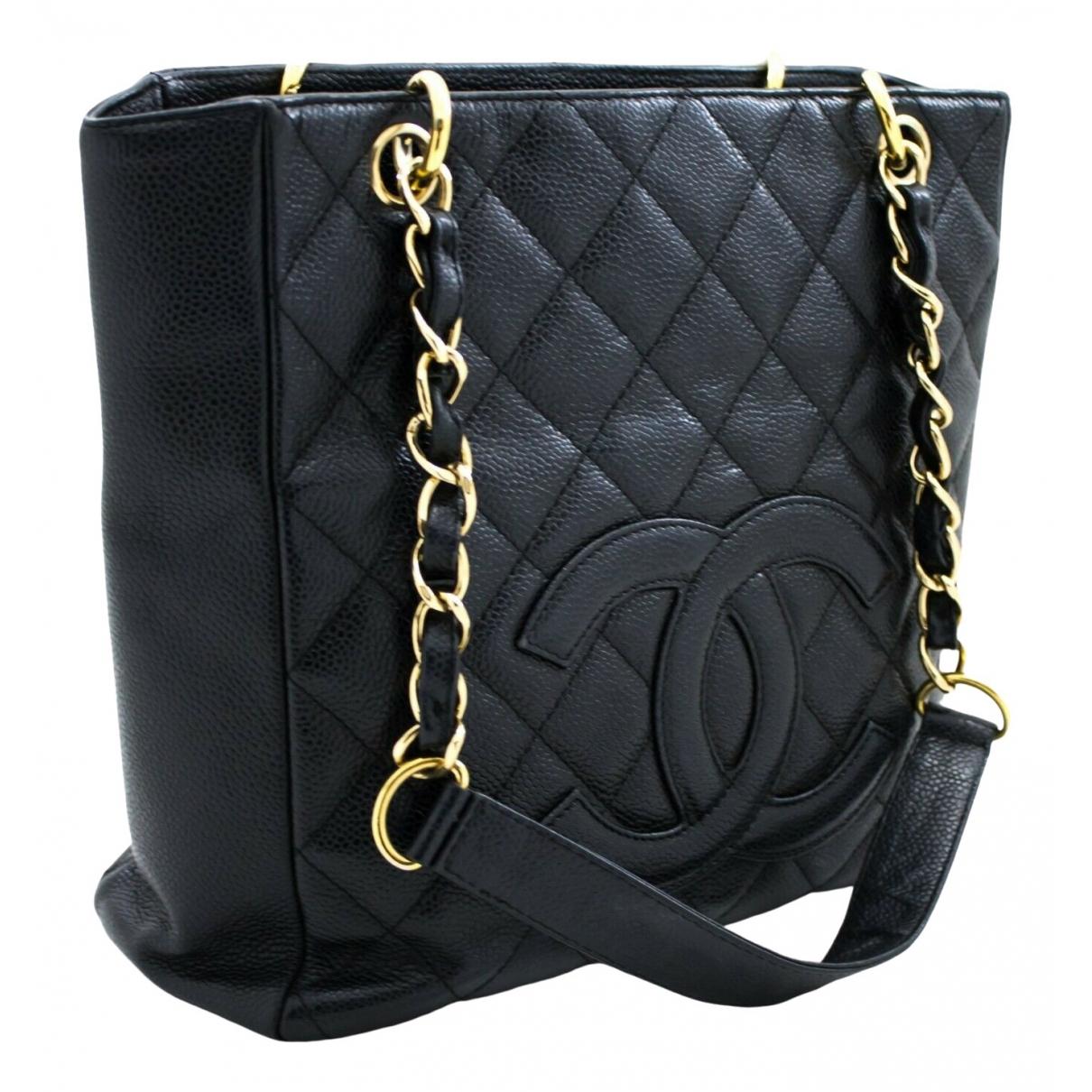 Bolso  Petite Shopping Tote de Cuero Chanel
