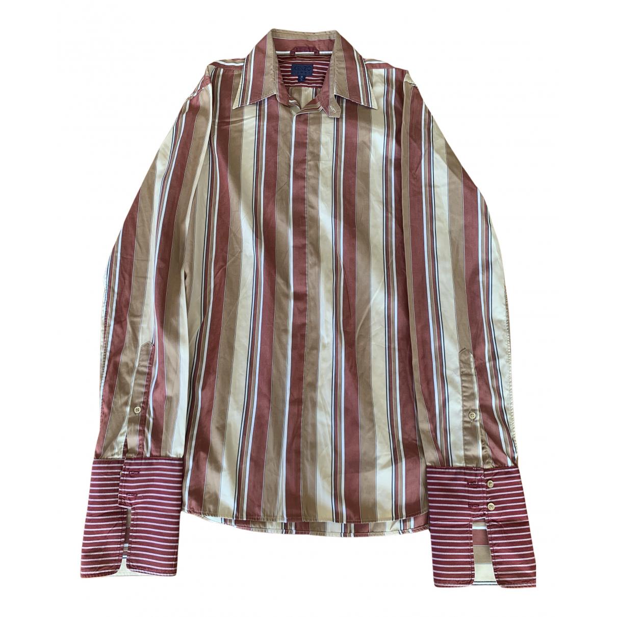 Kenzo N Beige Cotton Shirts for Men 38 EU (tour de cou / collar)