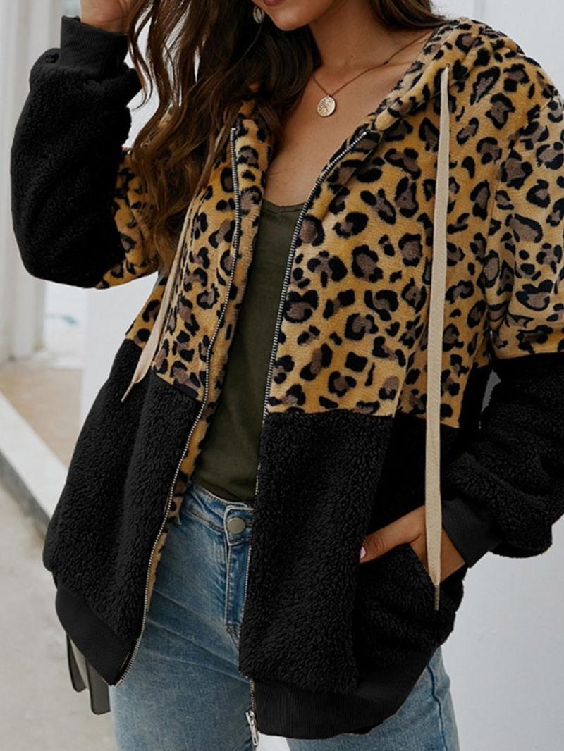 Ericdress Regular Loose Mid-Length Hooded Overcoat