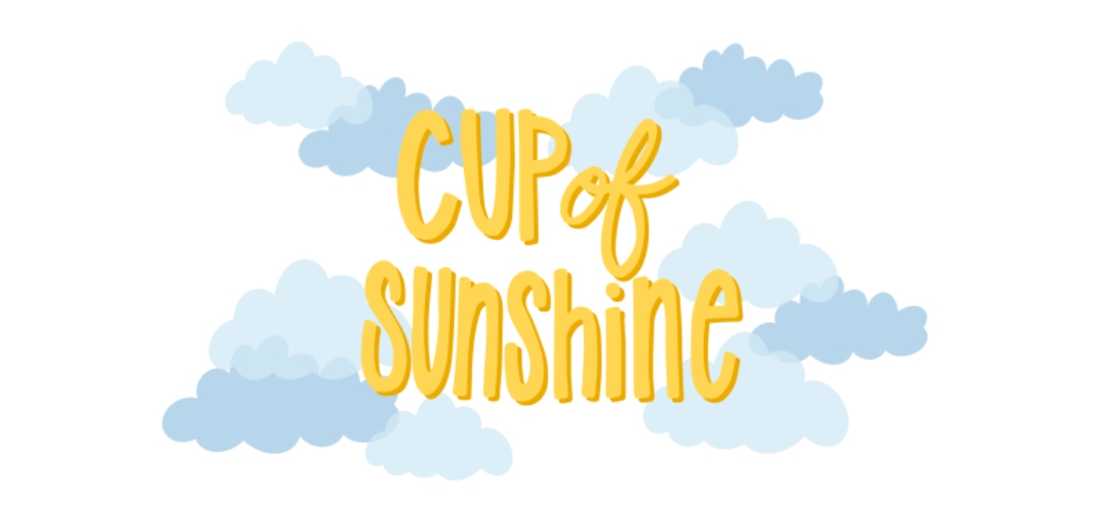 Non-Photo 11 oz. Light Blue Accent Mug, Gift -Cup of Sunshine