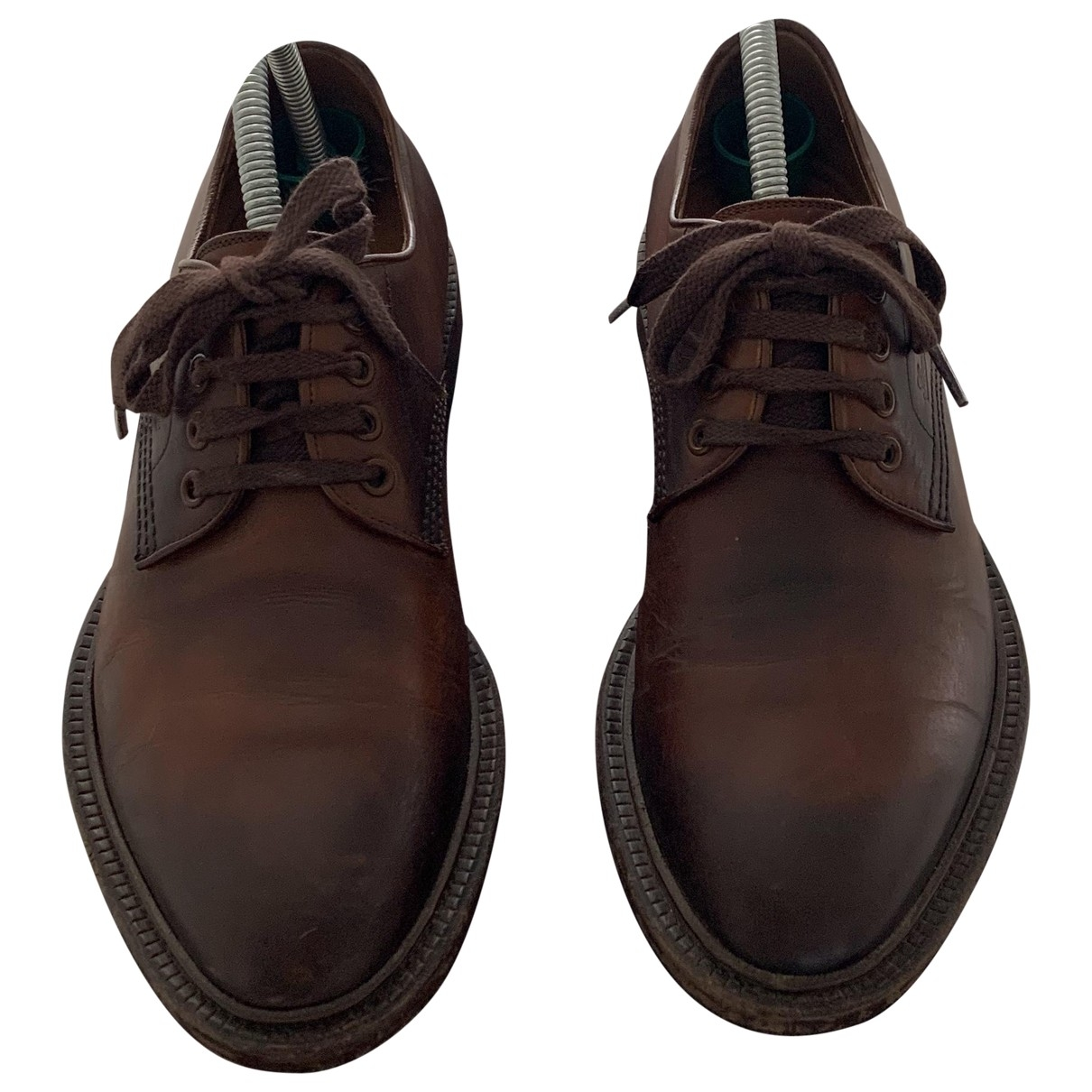 Gucci \N Brown Leather Lace ups for Men 40.5 EU
