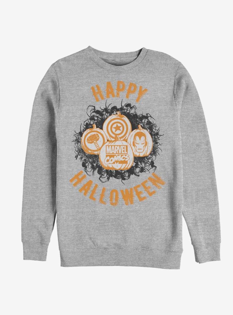 Marvel Avengers Happy Halloween Pumpkins Sweatshirt