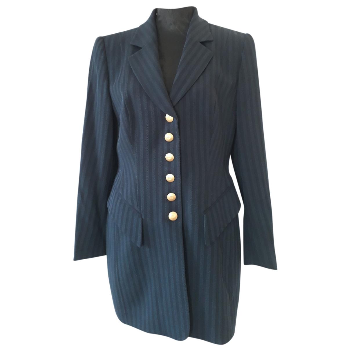 Rena Lange \N Blue Wool jacket for Women 44 IT