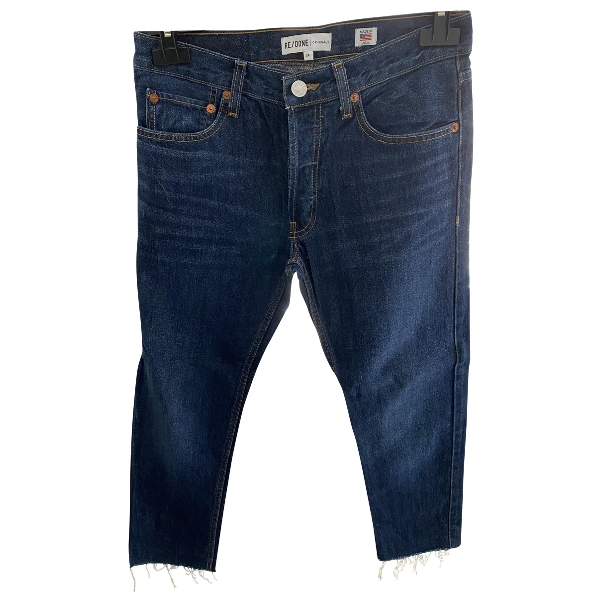 Re/done \N Blue Cotton - elasthane Jeans for Women 24 US