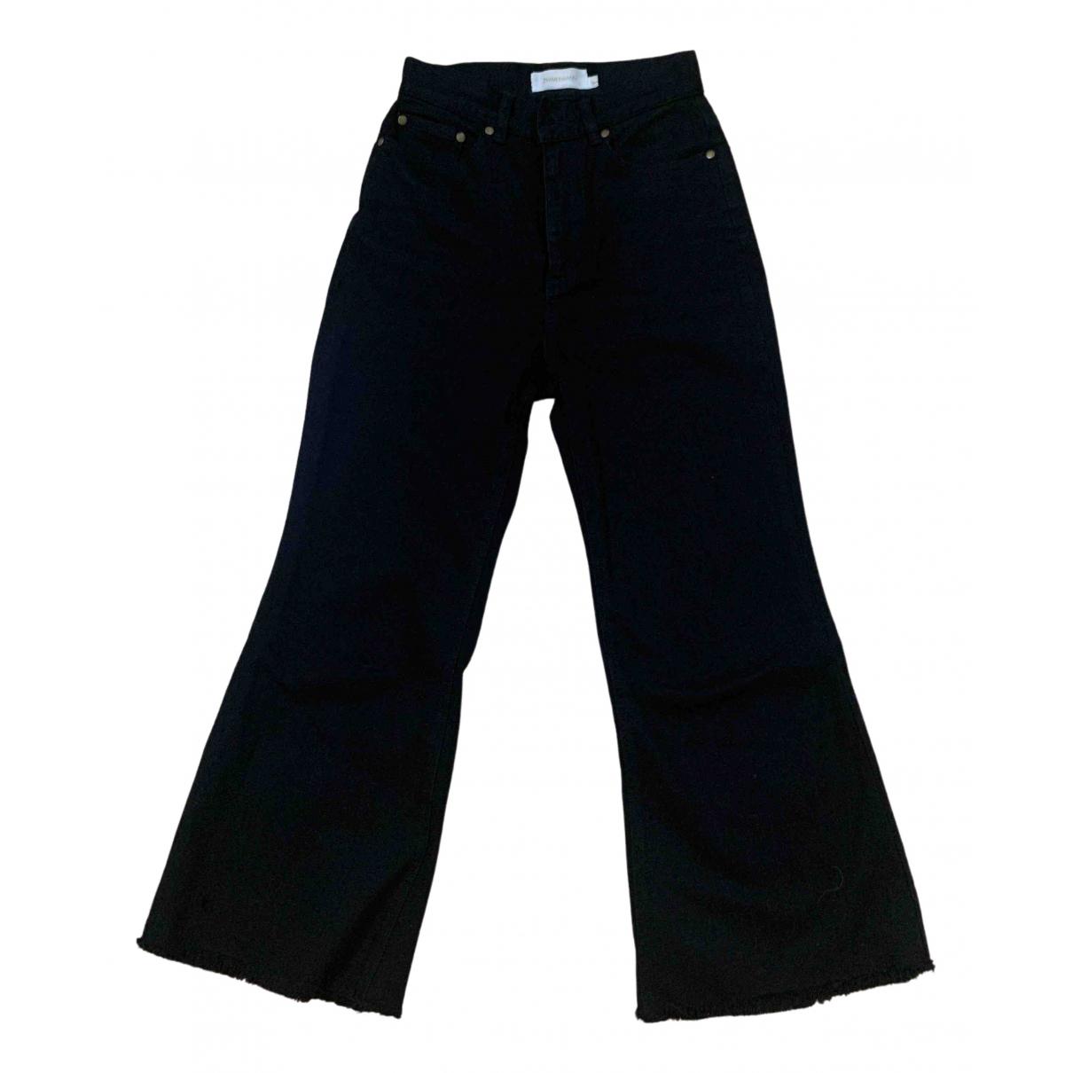 Zimmermann \N Black Cotton Jeans for Women 34 FR