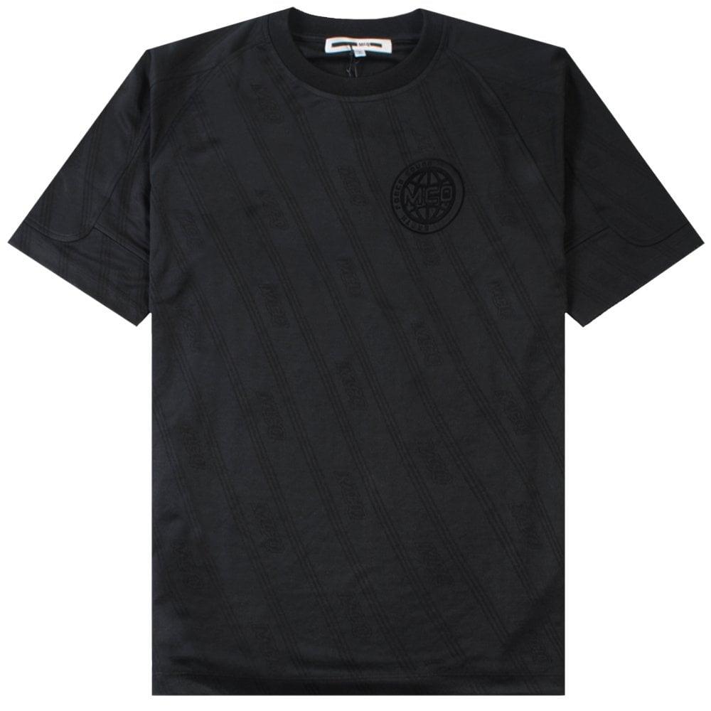McQ Alexander McQueen Football Style Jersey Colour: BLACK, Size: SMALL