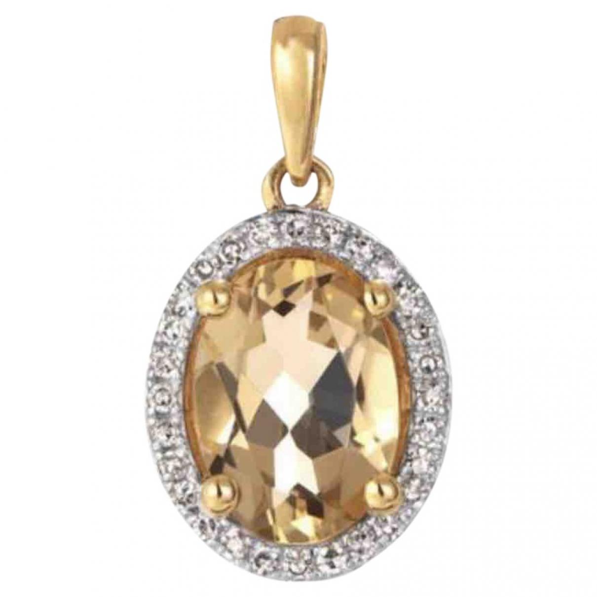 - Pendentif   pour femme en or jaune - dore